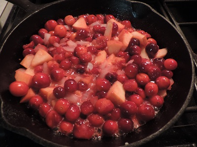 Cranberry/Apple/Onion sauce