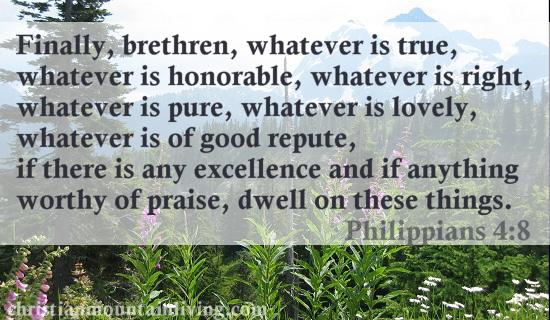 Philippians 4:8 NASB
